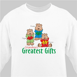 Personalized Sweatshirt - Grandma's Greatest Gifts (White)