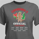 Official cookie tester personalized grey t-shirt makes a fun gift for any special person on your Christmas list!