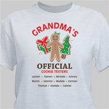 Official cookie tester personalized ash gray t-shirt makes a fun gift for any special person on your Christmas list!