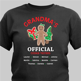 Official cookie tester personalized black t-shirt makes a fun gift for any special person on your Christmas list!