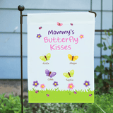 Personalized Butterfly Kisses Garden Flag