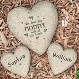 Heart shaped Garden Stone for someone special, We Love You With All Our Hearts.