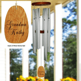 Beautiful Wind Chimes Personalized for Grandma