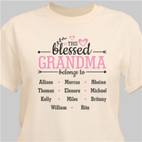 """Personalized """"This Blessed Grandma belongs to"""" T-Shirt - Natural"""