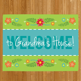 "Personalized Doormat ""Welcome to Grandma's House"""