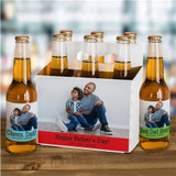 Personalized Photo Labels & Carrier for Dad's Favorite Beverage!