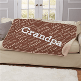 Comfortable brown sherpa throw for that special Grandpa. (Brown)