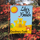 Life's A Beach garden flag to brighten grandma's garden