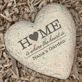 """Home is where the heart is"" personalized garden stone for a special Grandma"