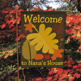Personalized Fall Garden Flag to Welcome Everyone to Grandma's House