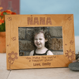 Personalized Wood Frame for Grandma - You make the world a happier place!