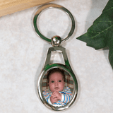 Silver key chain with Grandma's favorite picture to enjoy every day.