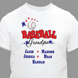 "Personalized T-Shirt for a ""Baseball Grandpa"""