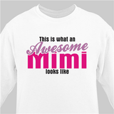 Personalized Sweatshirt for an Awesome Grandma - White