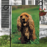 Pet photo garden flag to show off your beautiful dog.