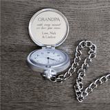 Personalized Pocket Watch for Grandpa - Inside