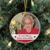 "Personalized ""In Loving Memory"" Ornament"