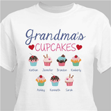 Personalized Grandma's Cupcakes T-Shirt...How Sweet!