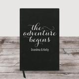 "Personalized Grandma Journal ""The Adventure Begins"" (Black)"