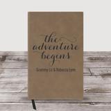 "Personalized Grandma Journal ""The Adventure Begins"" (Brown)"