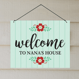 """Personalized """"Welcome"""" Wall Hanging for Grandma's Home"""