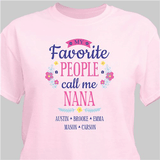 "Personalized Grandma's ""Favorite People"" T-Shirt - Pink"