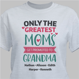 """Personalized T-Shirt """"Promoted to Grandma"""" - Gray"""