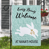Easter garden flag to welcome every bunny to Grandma's house!