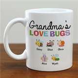 "Personalized Mug - Grandma's ""Love Bugs"""
