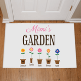 "Personalized Doormat ""Grandma's Garden"" with Grand Flowers!"
