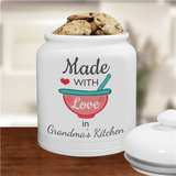 "Personalized ""Made With Love"" Cookie Jar for Grandma"