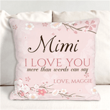 "Personalized ""I Love You"" Pillow for Grandma"