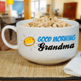 "Personalized ""Good Morning Grandma"" Bowl"