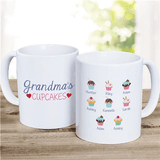 "Personalized ""Grandma's Cupcakes"" Mug - How Sweet!"