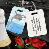 Grandkid Artwork Two-Sided Luggage Tag for Grandma