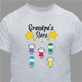 Personalized T-Shirt - GrandPa's Stars - Gray