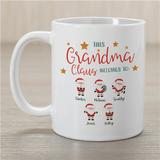 "Personalized ""Grandma Claus Belongs to"" Mug"