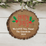 """Personalized """"Holly Jolly"""" Ornament just for Grandma"""