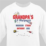 "Personalized ""Grandpa's Lil' Helpers"" Sweatshirt (White)"