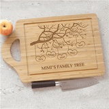 Personalized Family Tree Cutting Board for Grandma