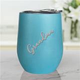 Personalized Tumbler for a Stylish Grandma - Light Blue