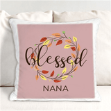 "Personalized ""Blessed"" Pillow for Grandma"