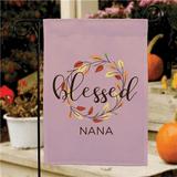 "Personalized ""Blessed"" Garden Flag for Grandma"