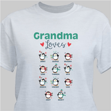 "Personalized Grandma Loves Her Little ""Penguins"" - Gray"