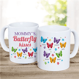 Butterfly Kisses Personalized Mug is special for MOM and every family member!