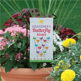 "Personalized Mini Flag - Grandma's ""Butterfly Kisses"""