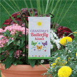"Personalized Mini Flag - Grandma's ""Butterfly Kisses"" (shown with 3 grandkid names)"