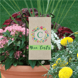 "Personalized Mini Flag for Grandma ""Floral Wreath"""