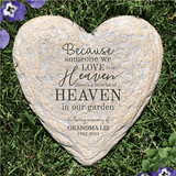 "Personalized ""Heaven"" Garden Stone for Grandma"