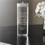 "Personalized ""Heaven"" Memorial Candle Vase to honor Grandma"